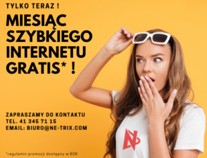 Miesiąc internetu gratis